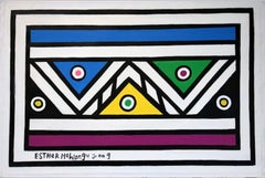 Untitled (Abstract Geometric South African Ndebele Painting)