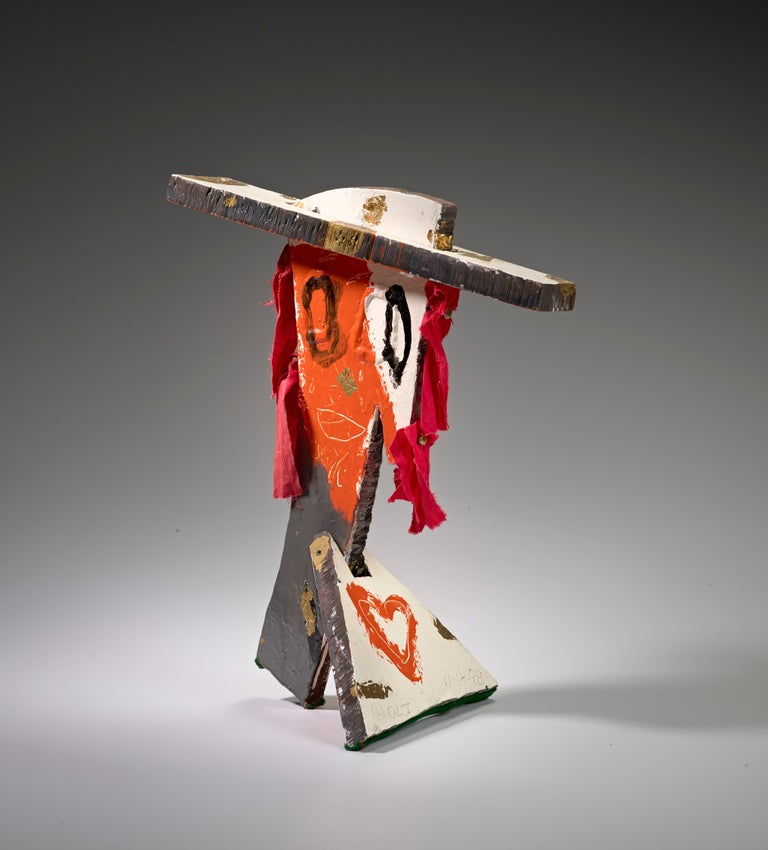 Oliver Lee Jackson Abstract Sculpture - Bust VI (Figurative Mixed Media Sculpture)