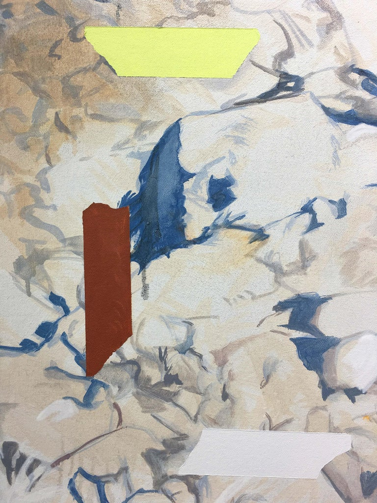 Rocks and Tapes (Color Field) Painting For Sale 1
