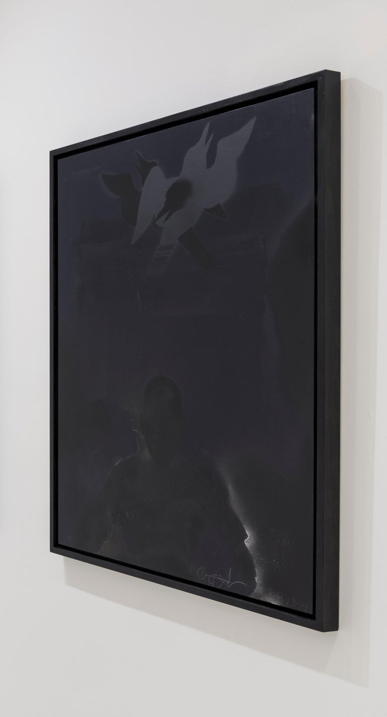 Painting No. 7 - Black Abstract Painting by Oliver Lee Jackson
