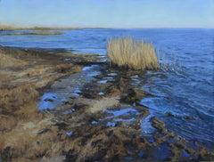 """Lake Pontchartain"" soft pastel on paper, en plein air landscape, Louisiana"