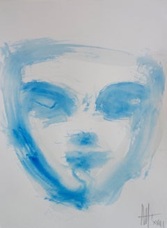 Mask - Contemporary watercolor - Meditation p1 by Marc Prat