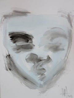 Mask - Contemporary watercolor - Meditation p2 by Marc Prat