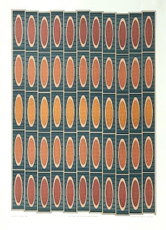Silk Stockings Candlelit Cafes, Signed Lithograph, Geometric Abstract Pattern