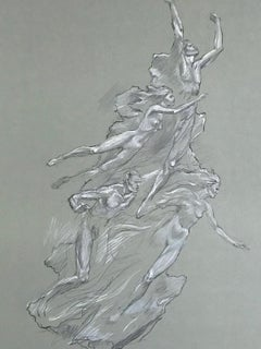 HEROIC SPIRIT Signed Lithograph, Classical Nude Figure Drawing, Olympics