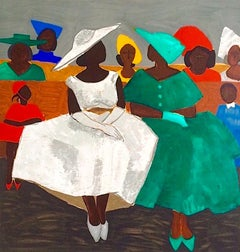FIRST SUNDAY Signed Lithograph, African American Heritage, Gullah Culture