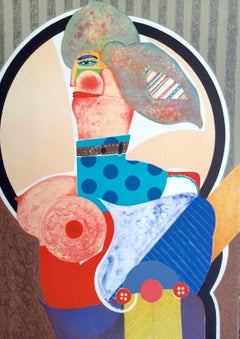 FEMME DÉNUDÉE, Signed Lithograph, Modern Nude Portrait, Pop Art Eroticism