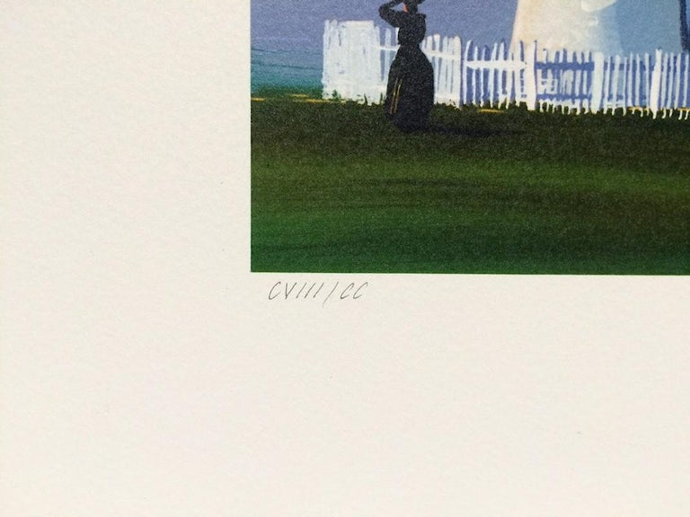 PEMAQUID LIGHT Signed Lithograph, New England Summer, Historic Lighthouse - Contemporary Print by Sally Caldwell-Fisher