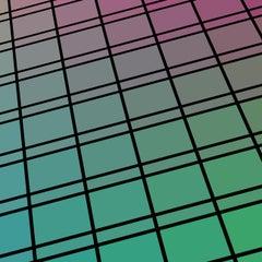 """Facade 71"" - single edition digital abstract print, green"