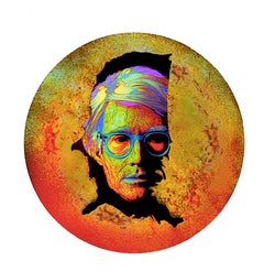 "Andy Warhol's portrait ""On The Map"" - Digital Art print"