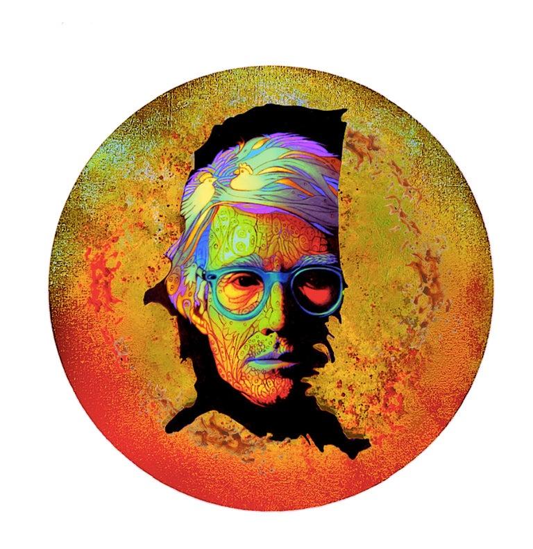 "Pablo Caviedes Portrait - Andy Warhol's portrait ""On The Map"" - Digital Art print"