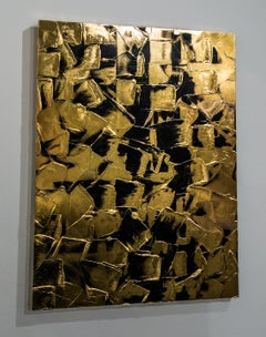"""Under Pressure"" - gold abstract painting"