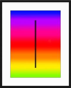 """Trio fur"" - minimalistic digital print with white mat, office series"