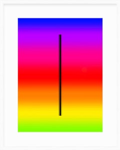 """Trio fur"" - minimalistic digital print with white frame, office series"