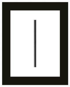 """Trio"" - minimalistic digital print with black mat, office series"