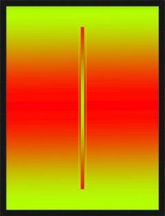 """""""Blush"""" - minimalistic digital print, red and green"""