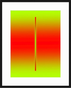 """""""Blush"""" - minimalistic digital print, red and green, with white mat"""