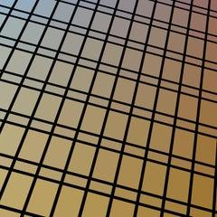 """Facade 82"" - single edition digital abstract print, yellow"