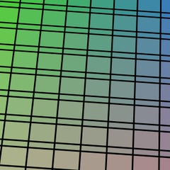 """Facade 85"" - single edition digital abstract print, green"