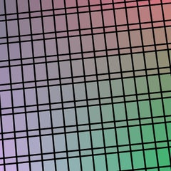 """Facade 88"" - single edition digital abstract print, green/purple"