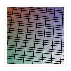 """Facade 79"" - single edition digital abstract print, framed"