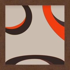 """""""Our eyes"""" - abstract digital print, warm earth tones"""