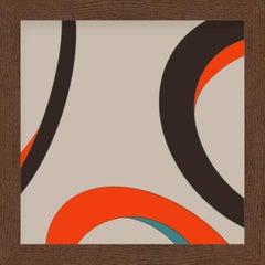 """Eyes"" - abstract digital print, warm earth tones"