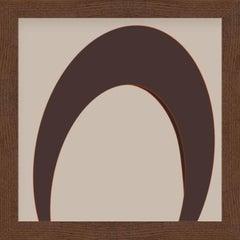 """""""Eye"""" - abstract digital print, warm earth tones"""