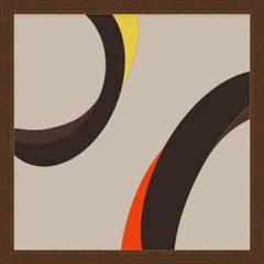 """My Eyes 32"" - abstract digital print, warm earth tones"