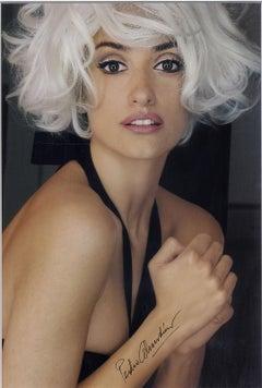 Penelope as Marilyn (Penelope Cruz in Marilyn Monroe pose, photo by Almodovar)
