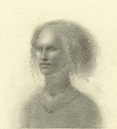 Small Head (delicate pencil drawing of a young woman)