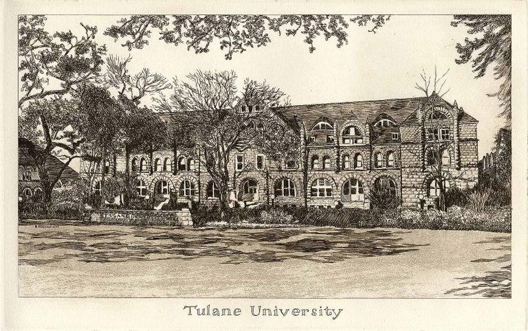 Philip Sage Landscape Print - Tulane University (founded in 1834)