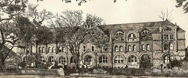 Tulane University (founded in 1834) - Print by Philip Sage