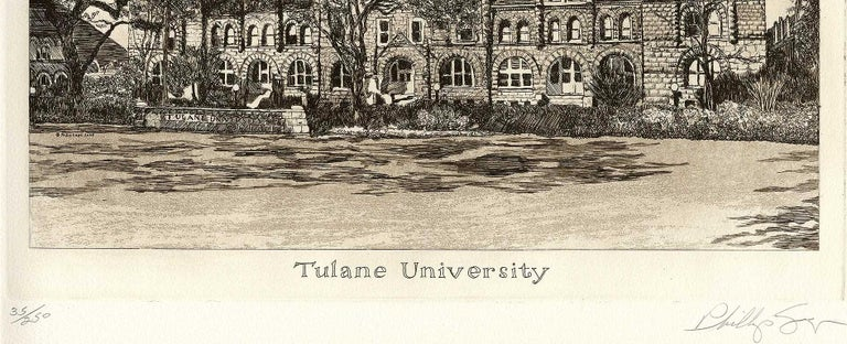 Tulane University (founded in 1834) - Contemporary Print by Philip Sage
