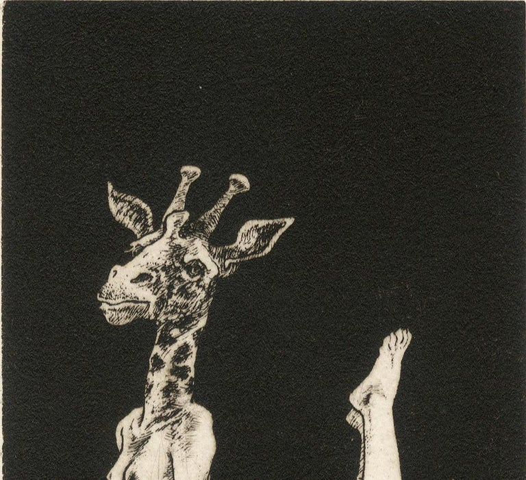 Giraffe (young female nude with the head of a giraffe) For Sale 1