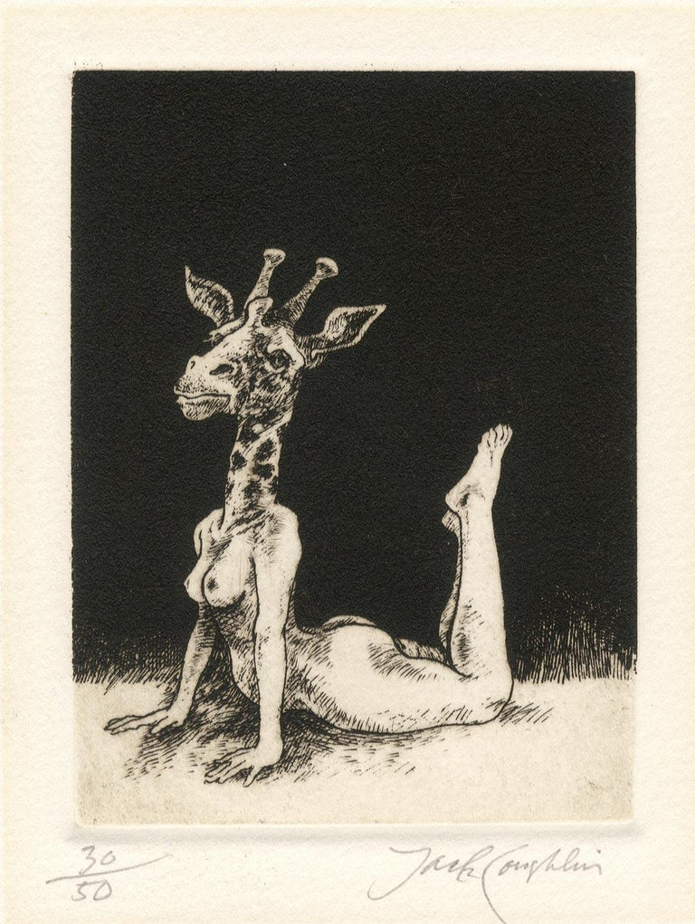 Giraffe (young female nude with the head of a giraffe) For Sale 3