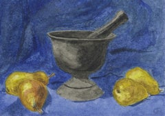 Mortar and Pestle with Pears