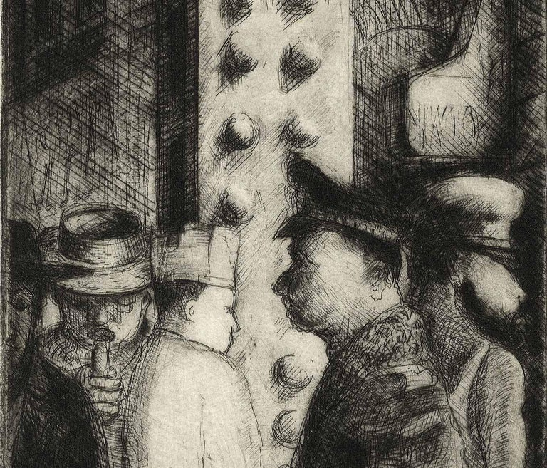 The Loop I (the artist's memories of days at Chicago's Art Institute) - Print by Richard Gilbert