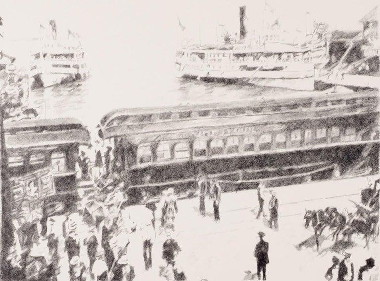 James L. Hendershot Figurative Print - Early Morning Departure