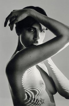 Roarie XVII (Nude in Shadows looking through arm)