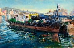 """Busan Harbor"" Colorful Scene of South Korea"