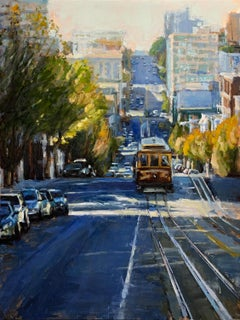 """Mid-November"" Colorful Street Scene of San Francisco"