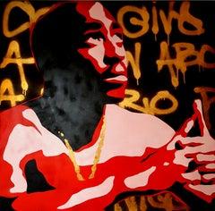 He's a Hero - original contemporary pop portrait of Tupac by Rod Benson