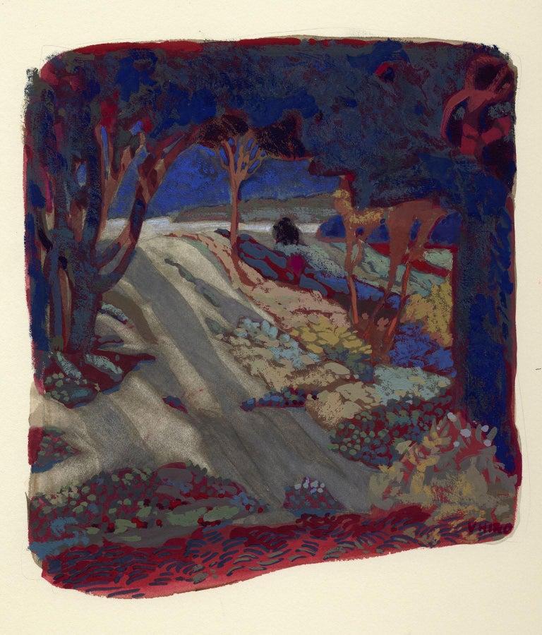 Valerie B Hird Landscape Art - NIGHTGROVE, SPRING GREEN II