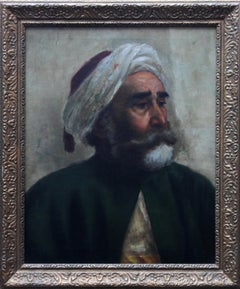 Portrait of an Oriental Man - Arab Head - Orientalist art oil painting