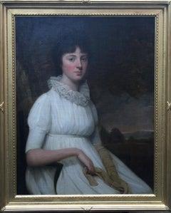 Portrait of Margaret Parker - British 18th century art Old Master oil painting
