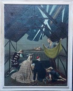 The Blitz Birth - British art c1942 World War II figurative interior oil panting