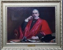 Portrait of Dr Robert Saundby - British Victorian art exh portrait oil painting