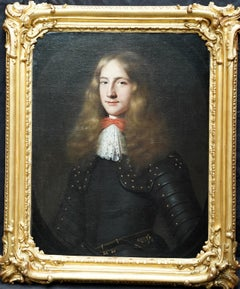 Portrait of a Gentleman in Armour - Flemish 17th Century Old Master oil painting