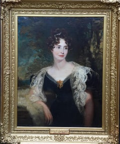 Portrait of Harriet Cooper - British Victorian art female portrait oil painting